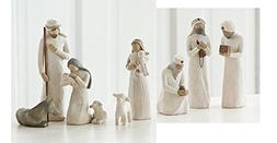 Willow Tree Nativity Holy Family and 3 Wisemen Set of 9 Figu