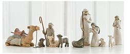 Willow Tree Nativity Holy Family and Shepherd and Stable Ani