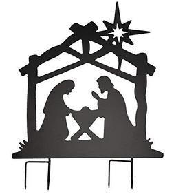 The Paragon Nativity Metal Yard Stake - Instant Holiday Deco