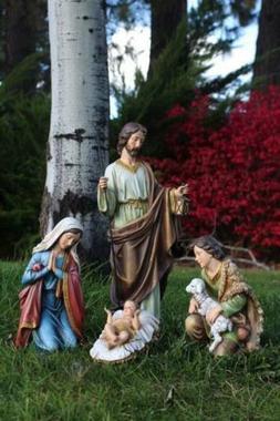 Nativity Set 18 inch 4pc Indoor Outdoor Garden Statues Yard
