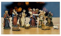Nativity Set - Set of 11 Nativity Figurines - Baby Jesus, Ma