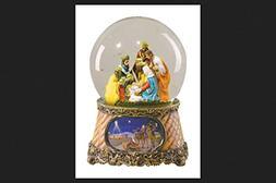 Roman Nativity Snow Globe