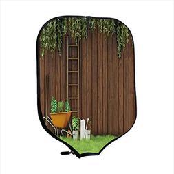 Neoprene Pickleball Paddle Racket Cover Case,Farm House Deco