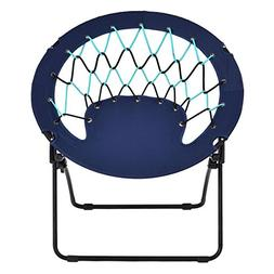 Costway Netted Folding Round Bungee Chair Steel Frame Outdoo