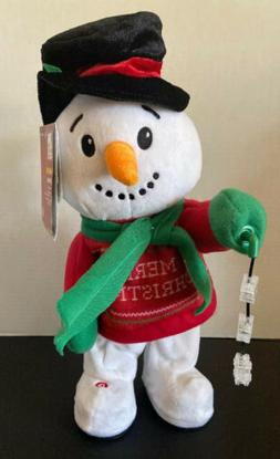 New 2019 Gemmy Snowflake Spinning Snowman Animated Let It Sn