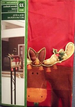 "NEW 22"" Moose MAILBOX COVER Christmas Holidays"