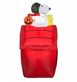 New Peanuts Snoopy Woodstock Pumpkin Airblown Halloween Infl