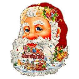 New 326709  Hx Plaque Santa Face  Xmas Decors Cheap Wholesal