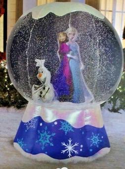NEW 6 FT TALL CHRISTMAS DISNEY FROZEN ELSA ANNA OLAF SNOW GL