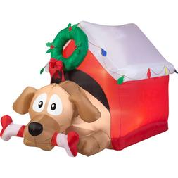 New Christmas Gemmy Airblown Inflatables Animated Dog W/ Can