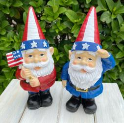 New GNOME Patriotic Statue Figurine 4th Of July Indoor Outdo