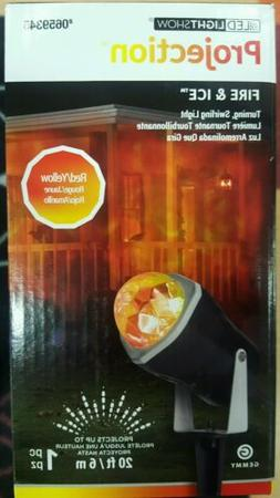 NEW - Gemmy Lightshow Halloween Fire and Ice Orange Projecto