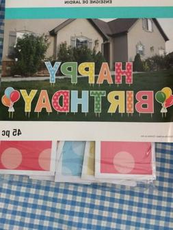 NEW Happy Birthday Yard Sign Letters - Birthday Parade Lawn