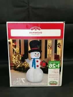 NEW! Holiday Time Airblown Inflatable Snowman 7 Feet Christm