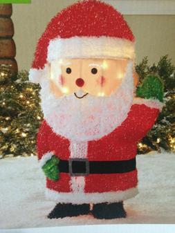 New in Box Lighted Tinsel Santa Lawn Yard Christmas Decor 29