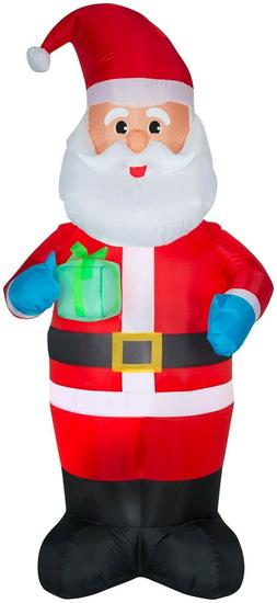 New in Box! Holiday Time Yard Inflatables Santa, 7 ft! Free