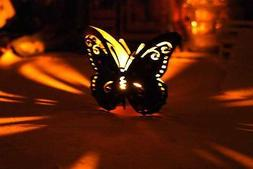 New Iron Butterfly Tealight Candle Holder Room Garden Yard D