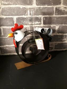 "New Metal Chicken Rain Measuring Gauge Yard Decor 11.5""×9"""