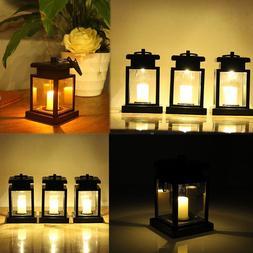 New Solar LED Hanging Lantern Light Waterproof Outdoor Garde