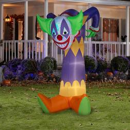 NEW Gemmy Swirling Light Clown Halloween Airblown Inflatable