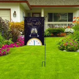 NEW YEAR Party Decor Garden Flag, Outdoor Holiday Celebrate