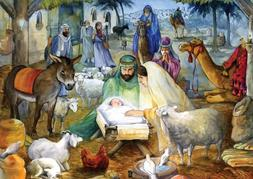 Newborn Child Nativity Advent Calendar