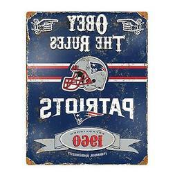 Party Animal NFL Embossed Metal Vintage New England Patriots