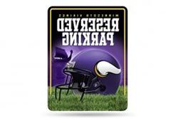 NFL Minnesota Vikings 8-Inch by 11-Inch Metal Parking Sign D