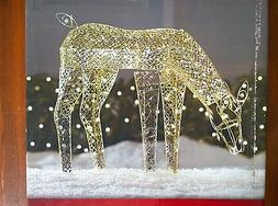 NIB: Outdoor Holiday Decor. 4-ft long LIGHTED Lead-Wire GOLD