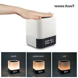 Night Light Bluetooth Speakers,WamGra All in 1 Touch Sensor
