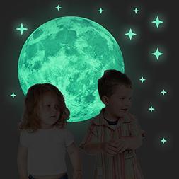 40cm Full Night Moon with Stars Glow in the Dark Luminous Li
