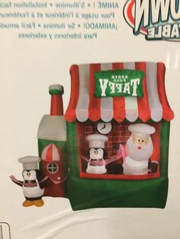 Gemmy North Pole Santa Taffy Stand Animated Christmas Airblo
