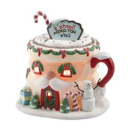 Department 56 North Pole Village Santa's Hot Cocoa Café Lit