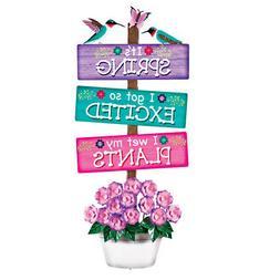 Novelty Springtime Sign Garden Stake
