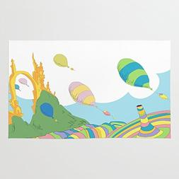 Society6 Oh The Places You'll Go .. Dr Seuss Rug 4' x 6'