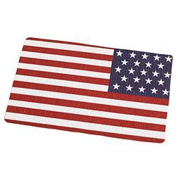 Old Glory American Flag Braided Rug, Red