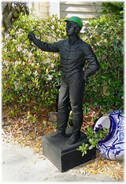 Old Lawn Jockey Statue equestrian horse lovers sculpture vin