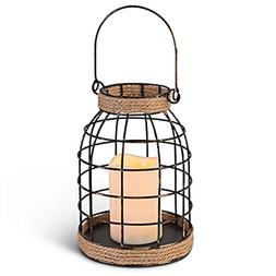 "Gerson 43665 - 9.25"" Large Open Wire Lantern Wavy Edge Batte"