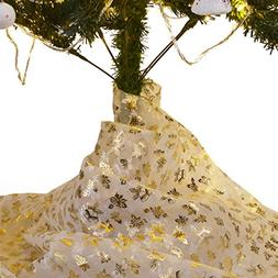 Bermino Organza Fabric DIY Christmas Tree Skirt, Decorative