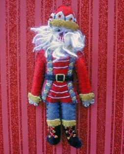 Christmas Ornaments - Olde World Nutcracker Handmade Fabric