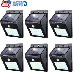 Outdoor 20 LED Solar Wall Lights Power PIR Motion Sensor Gar