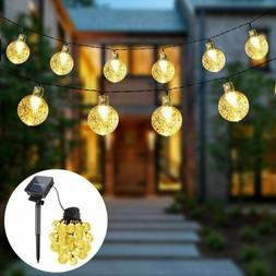 Outdoor 30 LED Solar Fairy String Light Garden Path Yard Dec