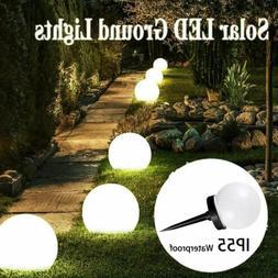 Outdoor 8Pcs LED Solar Round Ball Light Garden Yard Patio Pa