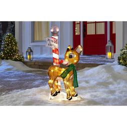 Outdoor Christmas Rudolph 32 In. LED 2D Prelit Yard Art Nort