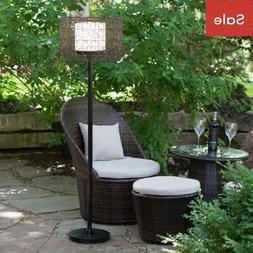 Outdoor Floor Lamp Patio Light Garden Yard Lightning Rattan