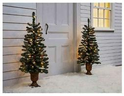 Outdoor Lighted Christmas Decoration Tree Set Yard Decor Chr