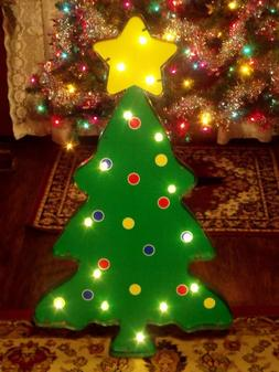OUTDOOR LIGHTED LED CHRISTMAS TREE STAR TOPPER MARQUEE SIGN