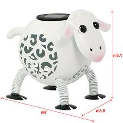 Outdoor Metal Solar Sheep Light LED Landscape Path Stake Pos