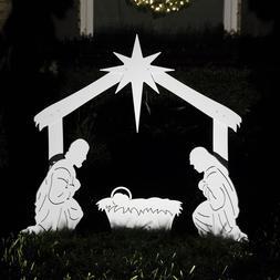 Teak Isle Outdoor Nativity Scene - Holy Family Yard Nativity