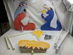 Outdoor Nativity Set Joy to The World Holy Family Yard Scene